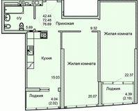 2-квартира 81.53 кв. м.