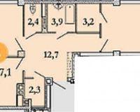 2-квартира 87.1 кв. м.