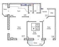 3-комная квартира 86.43 кв. м.