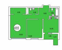 2-комнатная квартира 65.2 кв.м.