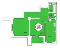 2-квартира 65.02 кв. м.