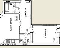 2-комнатная квартира 64.9 кв. м.
