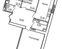 3-комнатная квартира 87.7 кв. м.