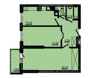 2-комнатная квартира 62.76 кв. м.