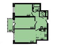 3-комнатная квартира 64.14 кв. м.