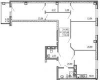 3-комнатная квартира 110.05 кв. м.