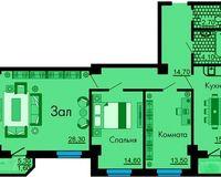 3-комнатная квартира 96.8 кв. м.