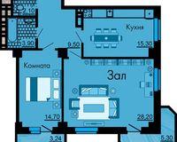 2-комнатная квартира 76.2 кв. м.