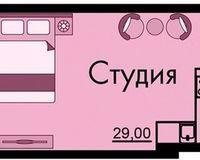 Студия 36.7 кв. м.