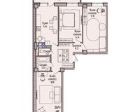 3-комнатная квартира 87.9 кв. м.