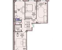 3-комнатная квартира 88 кв. м.