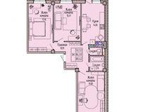 3-комнатная квартира 89.62 кв. м.