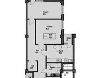 2-комнатная квартира 84.22 кв. м.