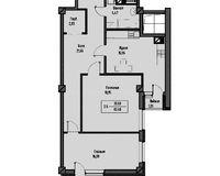 2-комнатная квартира 86.49 кв. м.