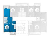 2-комнатная квартира 73.44 кв. м.