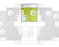 1-комнатная квартира 39.48 кв. м.