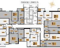 Литер 2, этажи 2-15