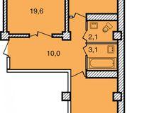 2-комнатная квартира 64.3 кв. м.