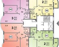 Секция 1, этажи 4-6