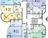 Секция 2, этажи 3-6