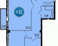 3-комнатная квартира 88.62 кв. м.