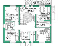 Коттедж А-348, 119 кв. м.