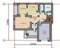 Коттедж 222.2 кв. м., этаж 2