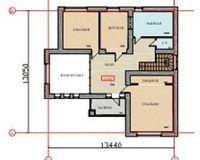 Коттедж 222.2 кв. м., этаж 1