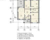 Тип 1. Общая площадь - 94,45 кв. м