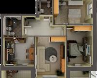 3 комнатная квартира 70 кв. м.