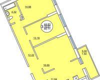 3 комнатная квартира 80.11 кв. м.