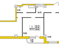 3-комнатная квартира 92.4 кв. м.