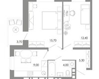 2-комнатная квартира 50.1 кв. м.