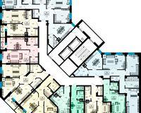 Дом 1, этажи 8-12
