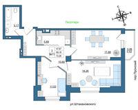 3 комнатная квартира 72.26 кв. м.