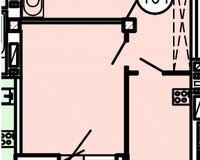 Типовая планировка 1-комнатной квартиры